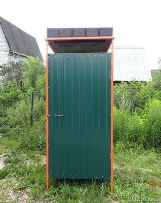 Как сделать летний душ из металлопрофиля