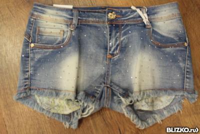 Шорты джинсовые в стразах/ MS.PUSH.UP/Турция /100%хлопок