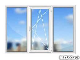 Пластиковое окно ecoline размер 2100=1400, 58 мм, двойной....
